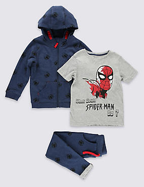 3 Piece Spider-Man™ Hoodie Outfit (1-8 Years)