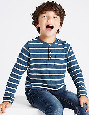 Long Sleeve Striped T-Shirt (1-7 Years)