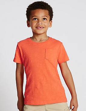 Pure Cotton Crew Neck T-Shirt (1-7 Years)