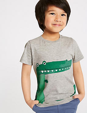 Cotton Rich Crocodile Top (3 Months - 7 Years)
