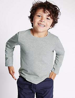 Cotton Rich Long Sleeve T-Shirt (1-7 Years)
