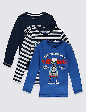 3 Pack Pure Cotton Thomas & Friends™ T-Shirts (1-6 Years)