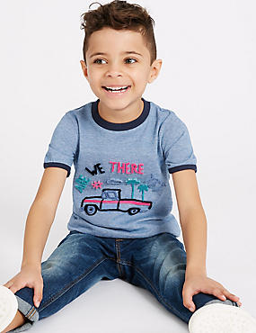 Truck Pure Cotton Top (3 Months - 7 Years)