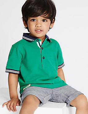 Pure Cotton Polo Shirt (3 Months - 5 Years)