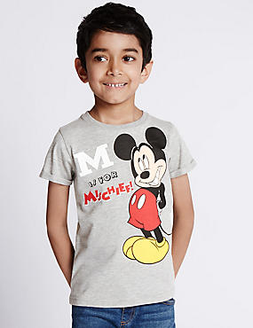 Mickey Mouse Crew Neck T-Shirt (1-7 Years)