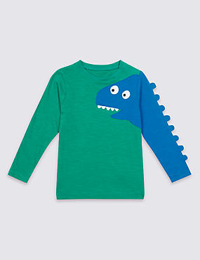 Pure Cotton Dinosaur Top (3 Months - 7 Years)