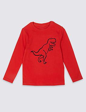 Easy Dressing Dinosaurs T-Shirt (3 Months - 7 Years), BRIGHT BLUE, catlanding