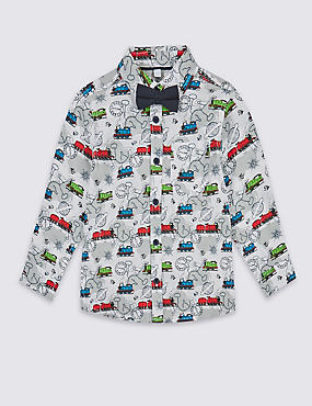 Pure Cotton Thomas & Friends™ Shirt with Bow Tie (1-6 Years)