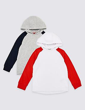 2 Pack Hooded Tops (1-7 Years), MULTI, catlanding