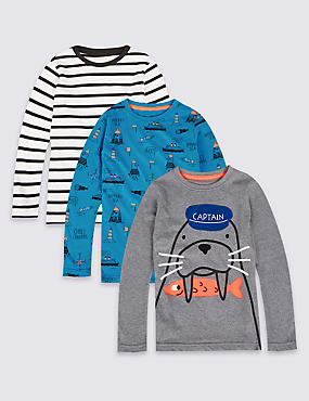 3 Pack Printed Tops (3 Months - 6 Years)