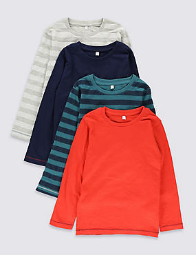 4 Pack Pure Cotton Assorted T-Shirts (18 Months - 7 Years)