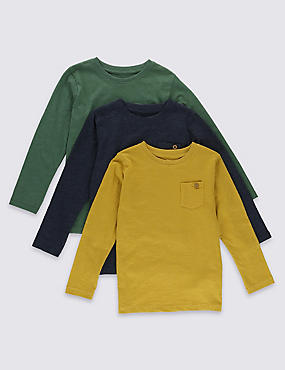 5 Pack Assorted Long Sleeve T-Shirts (1-7 Years)