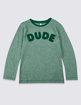 Pure Cotton Long Sleeve Top (3 Months - 5 Years)