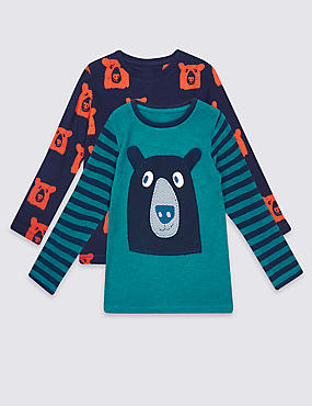 2 Pack Long Sleeve Tops (3 Months - 5 Years)
