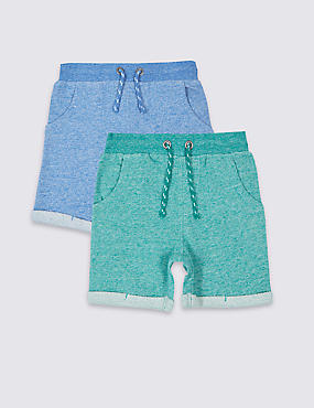 2 Pack Pure Cotton Shorts (3 Months - 5 Years)