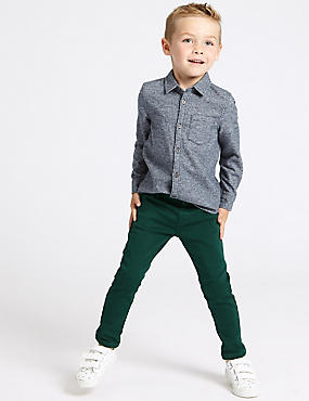 Cotton Rich Jeans with Stretch (3 Months - 7 Years), EVERGREEN, catlanding