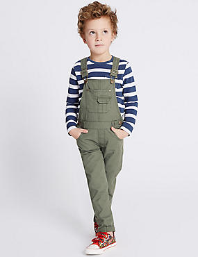 Pure Cotton Dungarees (3 Months - 5 Years)