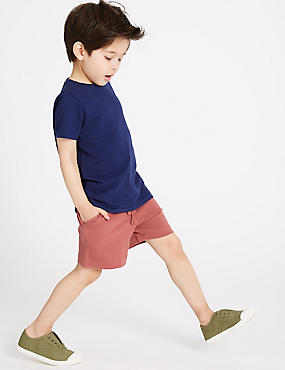 Pure Cotton Shorts (3 Months - 7 Years), GREY, catlanding