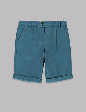 Pure Cotton Adjustable Waist Twill Chino Shorts (1-7 Years)