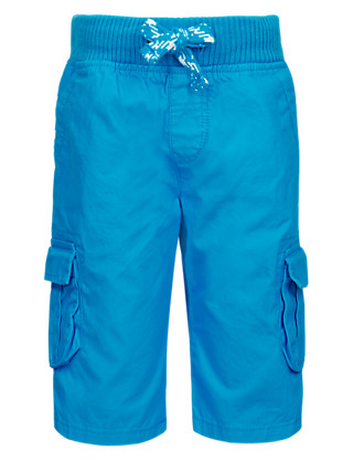 Pure Cotton Pull On Cargo Shorts Clothing
