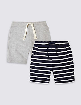 2 Pack Jersey Shorts (3 Months - 5 Years)