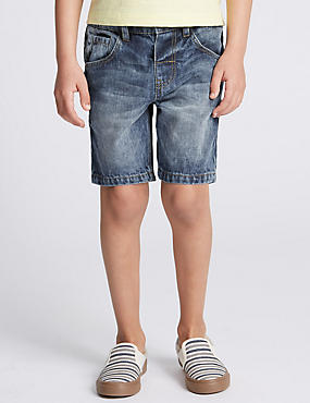 Pure Cotton Denim Shorts (1-7 Years)