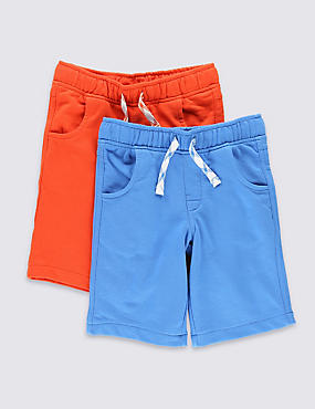 2 Pack Cotton Rich Assorted Shorts (1-7 Years)