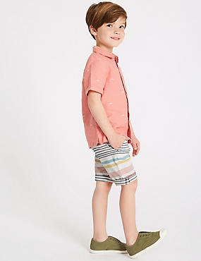 Pure Cotton Shorts (3 Months - 7 Years), MULTI, catlanding