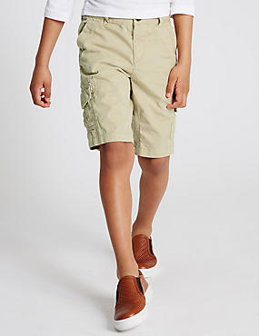 Pure Cotton Cargo Shorts (1-7 Years)