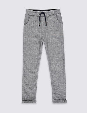 Cotton Rich Herringbone Joggers (3 Months - 6 Years)