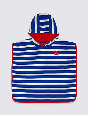 Pure Cotton Striped Hooded Towel (0-8 Years)