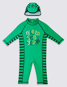 2 Piece Slogan Swim Outfit (0-5 Years)