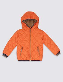Hooded Neck Quilted Coat with Stormwear™ (3 Months - 7 Years)