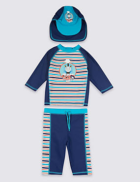 3 Piece Thomas & Friends™ Safe in the Sun Swimsuit with Hat (1-7 Years)