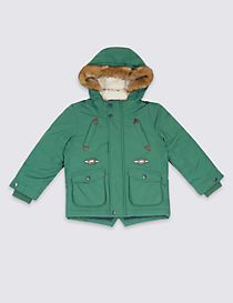 Faux Fur Hooded Parka with Stormwear™ (3 Months - 7 Years)