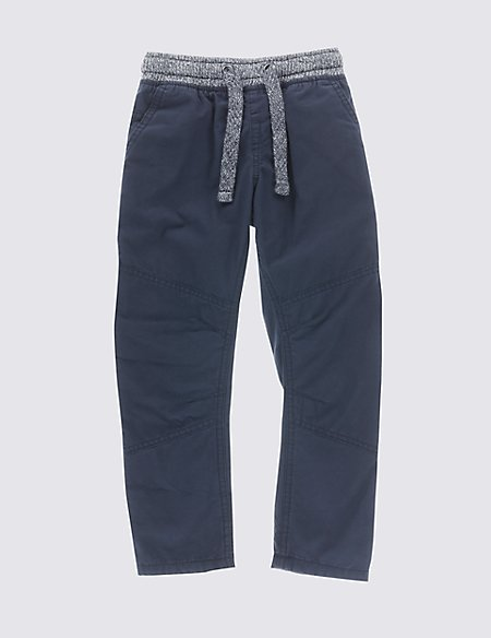 Pure Cotton Ripstop Trousers (1-7 Years)