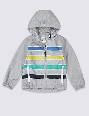 Striped Windbreaker Jacket (3 Months - 7 Years)