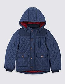 Hooded Neck Quilted Coat with Stormwear™ (3 Months - 5 Years)