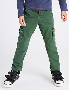 Pure Cotton Cargo Trousers (1-7 Years)