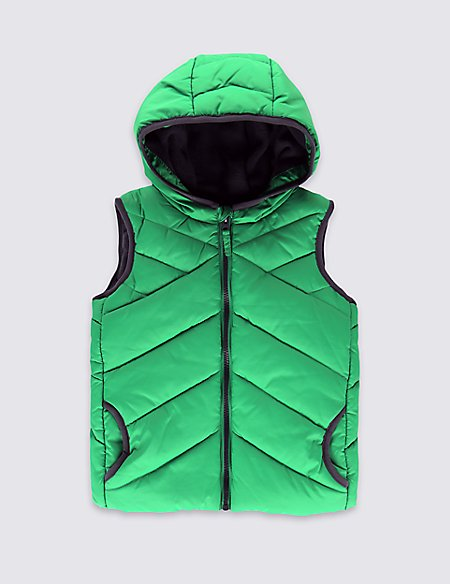 Hooded Fleece Lined Gilet (1-7 Years)