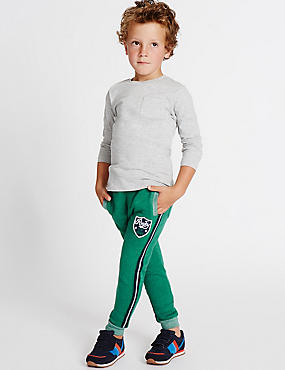 Cotton Rich Badge Joggers (3 Months - 5 Years)