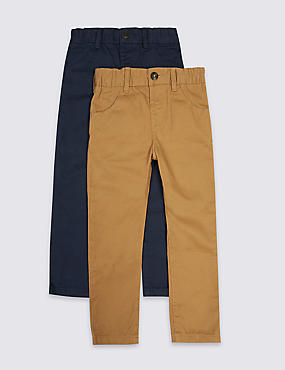 2 Pack Pure Cotton Chinos (3 Months - 5 Years)
