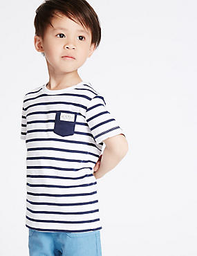 Pure Cotton Striped T-Shirt (3 Months - 5 Years)