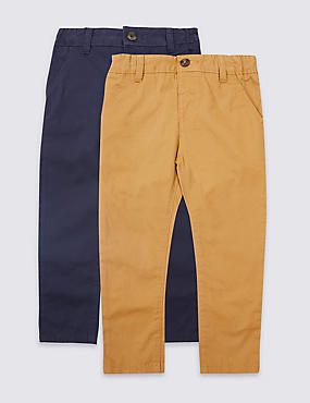 2 Pack Pure Cotton Chinos