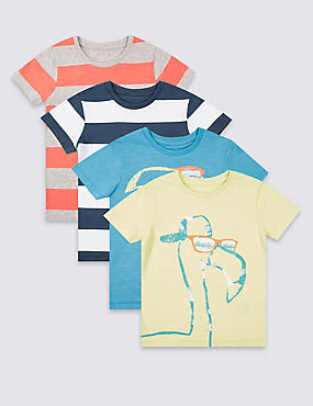 4 Pack Short Sleeve T-Shirt (3 Months - 5 Years)