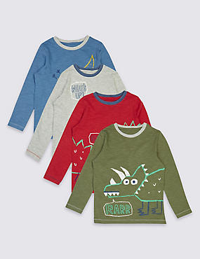 4 Pack T-Shirts (3 Months - 5 Years)