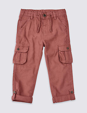 Linen Rich Trousers (3 Months - 7 Years), SOFT SPICE, catlanding