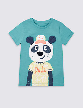 Pure Cotton Printed T-Shirt (3 Months - 5 Years)