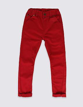 Pure Cotton Slim Fit Trousers (1-7 Years)