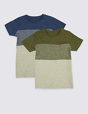 2 Pack Striped T-Shirts (3 Months - 5 Years)